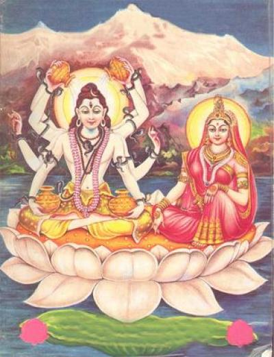 Lord Shiva & Shakti shown to user